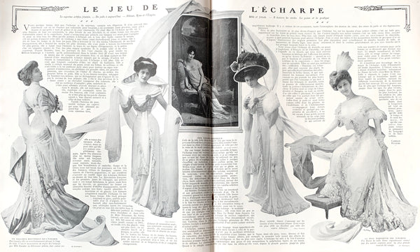 January 1908 French Magazine FEMINA - including ice-hockey.