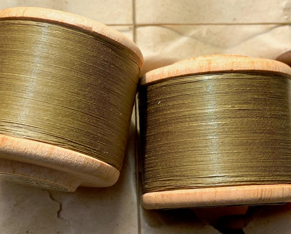 12 x 400yds Vintage 40 Gauge Greeny Brown MUNTYAK Brand Cotton Sewing Thread