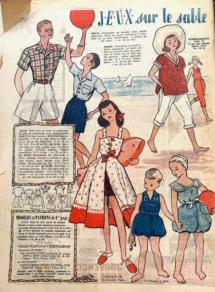 Joyful Summer Fashions in July 1949 French Fashion Paper Le Petit Echo de la Mode