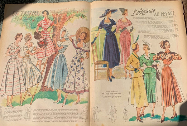 Domestic Elegance in the 29th May 1949 French Fashion Paper Le Petit Echo de la Mode