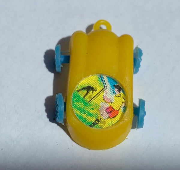 1960s Lenticular Flicker Car Charms - Rock + Roll and Can Can Dancers, Football and Boxing