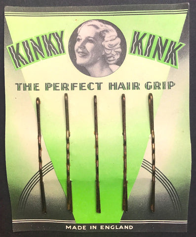 KINKY KINK ..THE PERFECT HAIR GRIP ..1930s .. Made in England