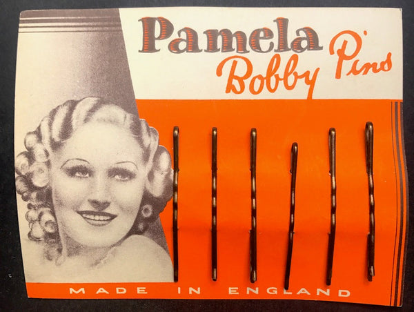 Pamela Bobby Pins ..1930s .. Made in England