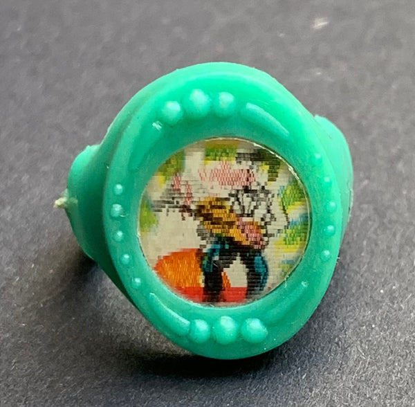 1950s ROCK + ROLL Lenticular Flicker Ring - Choice of 4 - Made in Hong Kong
