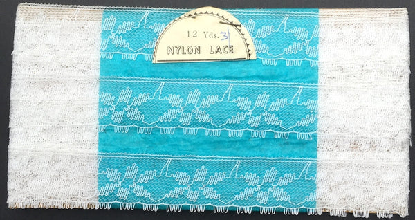 2.5cm wide and 12yds long Interesting  Vintage Lace Trim