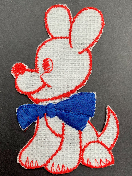Joyful Puppy 1940s Applique - 9cm tall