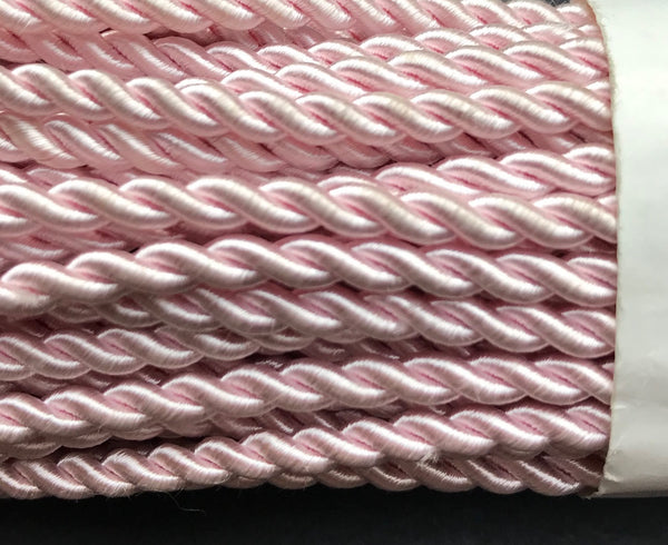 20m Vintage Shiny Pink Cord 4mm thick.