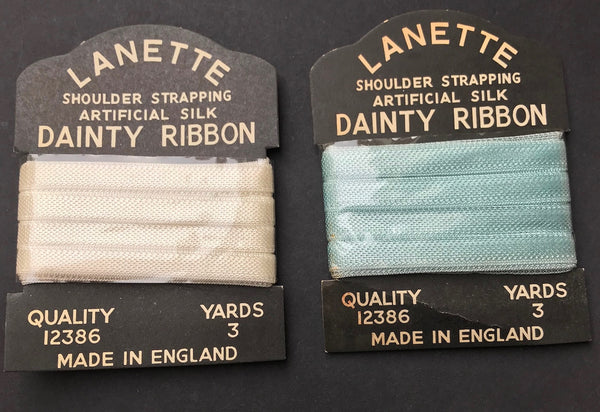 Artificial Silk DAINTY RIBBON Shoulder Strapping 3 YARDS Made in England