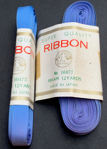 "12yds Periwinkle ""Superior Quality"" VINTAGE Ribbon 1cm wide"