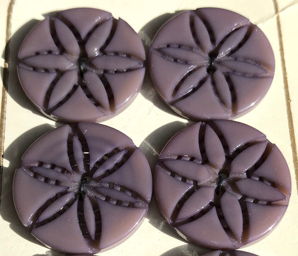 Dark Violet 2.3cm Vintage Buttons - 6 of them