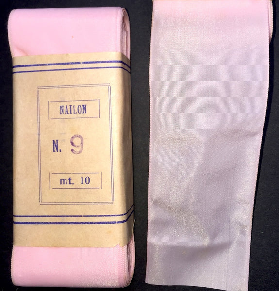 10m VINTAGE Pink Ribbon - Various widths and lengths.