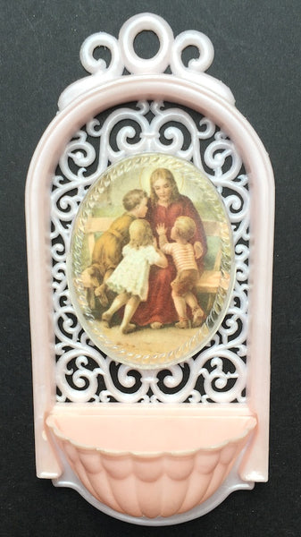 Wonderful Vintage Italian Plastic Holy Water Fonts - Various Designs including Confirmation