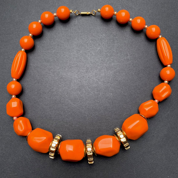 Big Vibrant 1970s Necklaces - Choice of Colours - Old Shop Stock