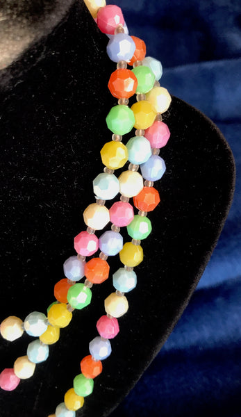 Sparkly Vintage Pastel Lucite Beads