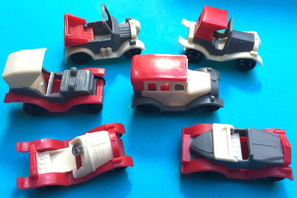 6 Characterful Old 4.5cm Cars- all Different -  Warehouse Find