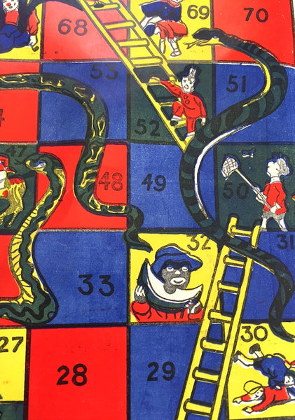 Vintage Snakes and Ladders Game - So Much More Fun than X Box...