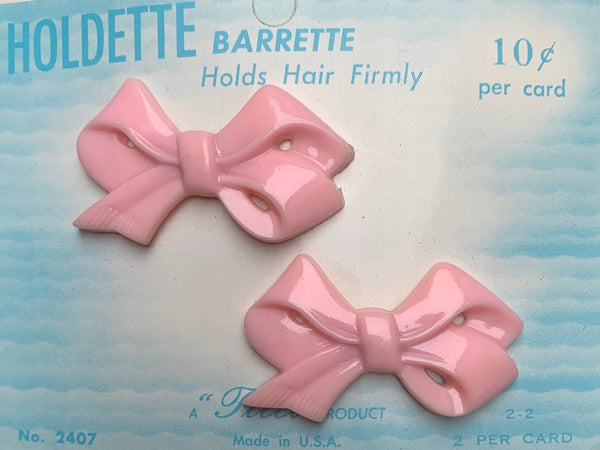 Pair of Vintage Bow Hair Grips