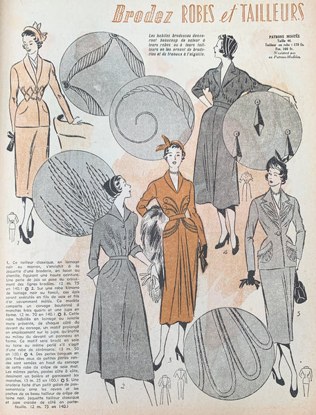 Womens and Childrens Fashions in February 1950 French Petit L'Echo de la Mode