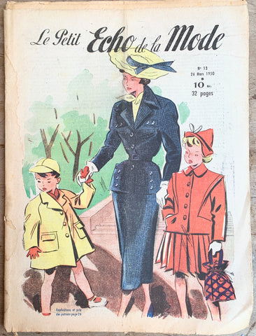 Spring Fashions in March 1950 French Petit L'Echo de la Mode