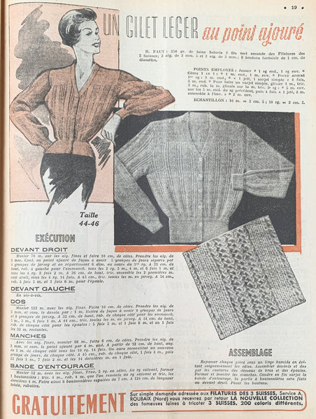 Confirmation Outfits in April 1950  French Petit L'Echo de la Mode