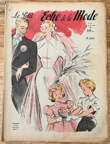 Wedding Dresses in April 1950  French Petit L'Echo de la Mode