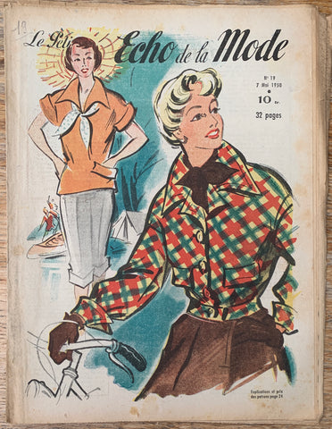 Camping Outfits in May 1950  French Petit L'Echo de la Mode