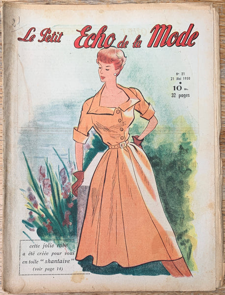 Men, Women & Childrens Fashion in May 1950  French Petit L'Echo de la Mode