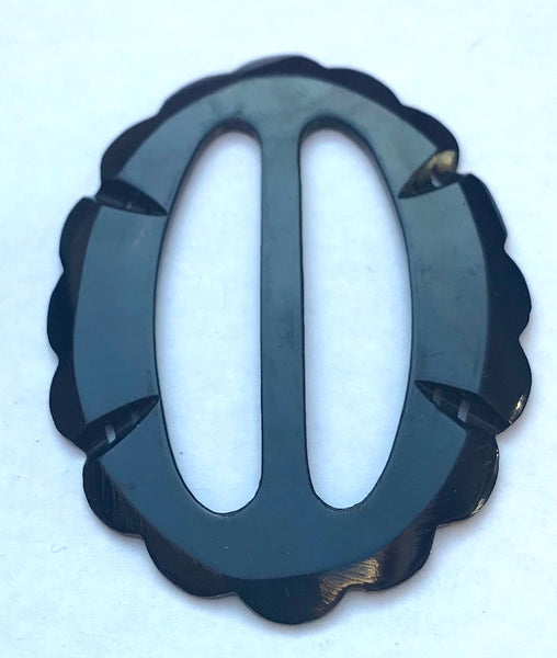 Very Dark Blue 1940s French 6.5cm Belt Buckle