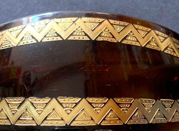 Very Deco Tortoiseshell and Gold Vintage French Barrette.