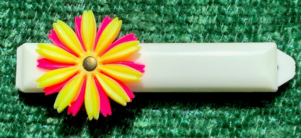 Gloriously Kitsch 1960s Flower Hair Grips