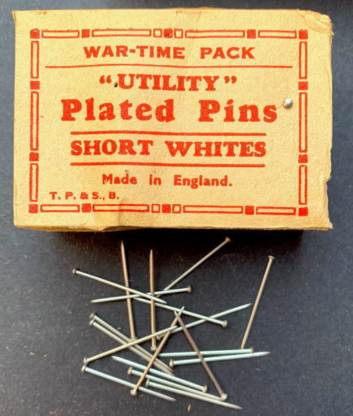 "WAR-TIME PACK ""UTILITY""  Plated Pins - Short Whites - MADE IN ENGLAND"