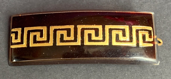 French 1950s Chic Tortoiseshell Lucite Hair Clip