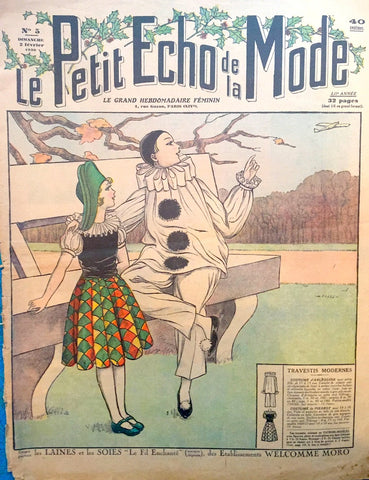 2nd February 1930 Wonderful Fancy Dress Costumes in French Fashion Paper Le Petit Echo de la Mode