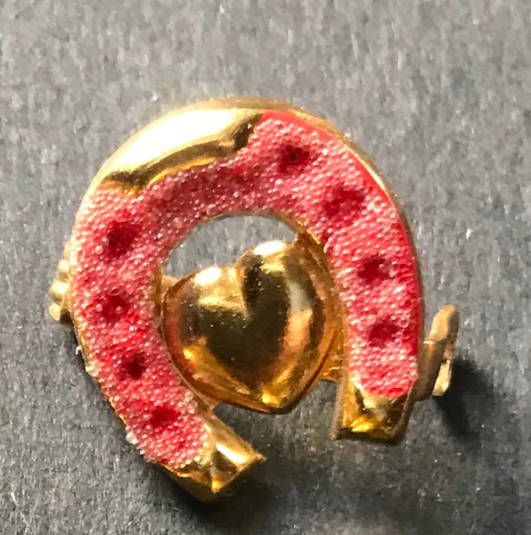 Attract Love and Luck with a Vintage Heart and Horseshoe Brooch...Honestly..