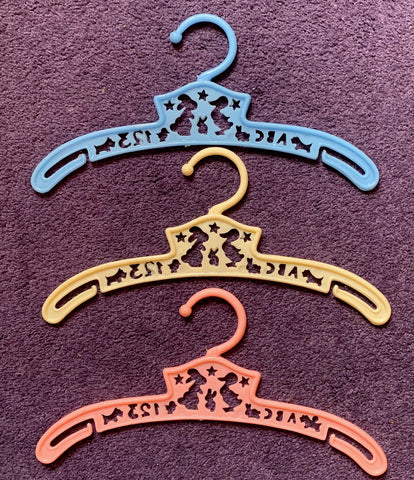 Lovely Vintage ABC 123 Childrens Hangers