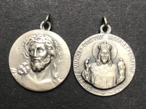 Two Vintage Holy Medals