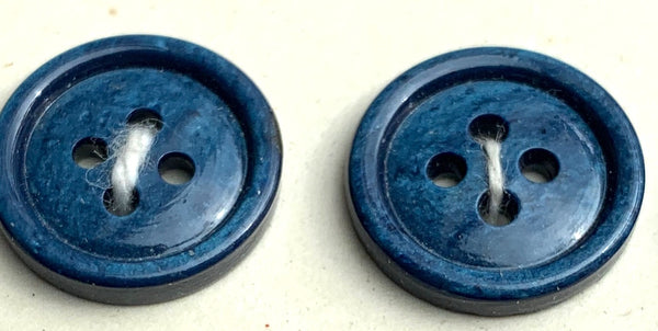36 British Made Airforce Blue Simple and Satisfying Vintage 1.4cm Buttons