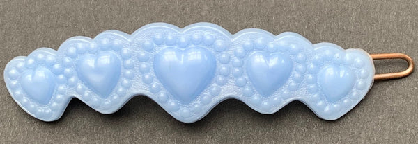 Sweet Vintage Pastel Heart Hair Clips - Choice of 3 colours...