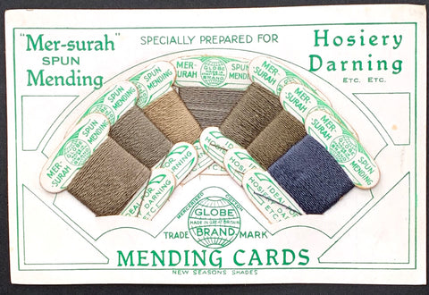 1920s Hosiery Darning Mending Card Made in Great Britain
