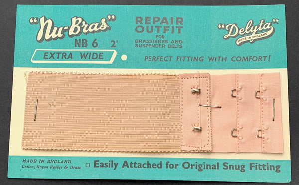 "1940s ""Nu-Bras""  Extra Wide 1.5"" or 2"" REPAIR OUTFIT for Brassieres and Suspender Belts"