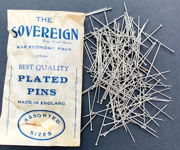 Sovereign WAR ECONOMY PACK of Best Quality Plated Pins Made in England