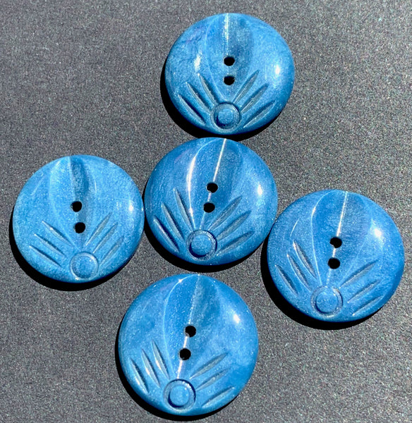 Wonderfully Deco 1.7cm Teal Vintage Casein Buttons