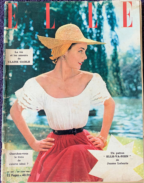 Clark Gable in June 1951 issue of French ELLE