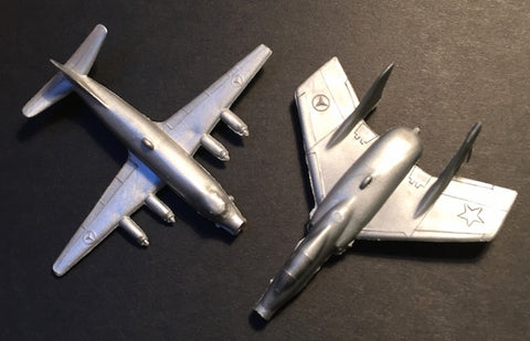 2 Different 1950s/60s Jet Plane Whistles Made in Hong Kong