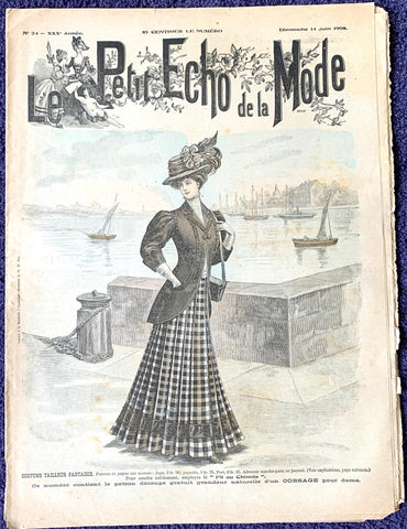 Wonderful Edwardian Outfits and Hats in 14th June 1908 French Le Petit Echo de la Mode