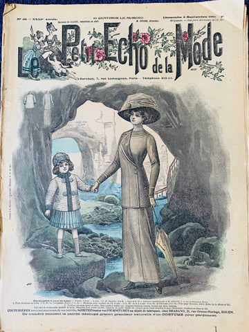 A Seaside Visit and Extraordinary Hats in Sept. 1910 French Fashion Paper Le Petit Echo de la Mode