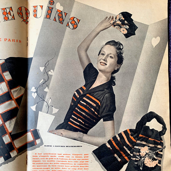 May 1941 Wartime French Magazine POUR ELLE