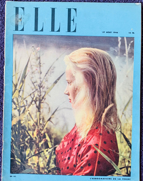 August 1946 issue of ELLE French Women's Magazine