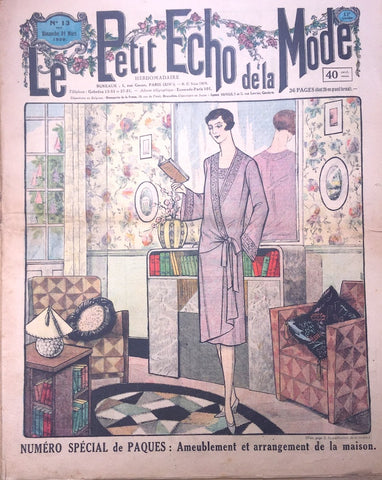 1920s Fashion and Interiors in March 1929 French Womens Paper Le Petit Echo de la Mode