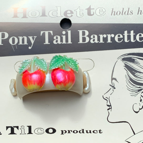 Delightful Vintage Fruity Pony Tail Barrettes